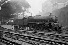 "45633 ""Jervis"" :LMS Stanier 6P5F 'Jubilee' 4-6-0 no 45663 'Jervis' at Birmingham New St on 12th April 1955. Photo by Martin Gemmell Photography"