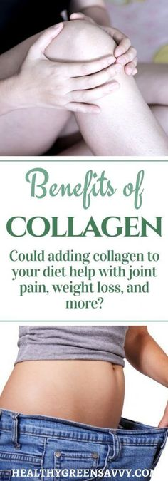 Benefits of collagen: Collagen may improve joint pain, help with weight loss and much more! Find out how adding collagen to your diet may benefit your health. #collagen #health #wellness