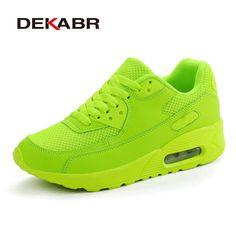 Dekabrブランド最新春秋ランニングシューズ用屋外快適な女性スニーカー男性通気性スポーツの靴サイズ35-44
