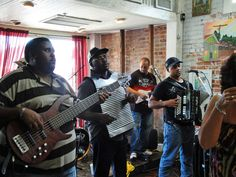 Every Saturday morning from 8:30 am to 11:30 am. they have a Zydeco Breakfast.   Doors open at 7:30 am so feel free to come early and grab a table.   There is a cover charge but if you decide to try one of their tasty entrees they will refund the cover charge right back to ya.   Once you have finished your meal, they ask that you give up your table so that everyone has a chance to enjoy the great music and wonderful food