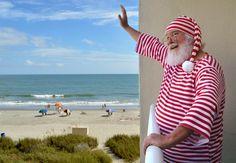 Santa loves vacationing in Myrtle Beach.