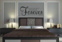 I love this for my room the wall design and colors not the quote No Measure of Time Wall Decal Quote - Edward Cullen - Twilight -