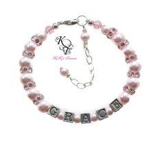 Baby Bracelet, Baby Girl Gift, Little Girls Bracelet, Pink Bracelet, Baby Gifts, Baby Shower Gift, Personalized Baby Gift, Keepsake Gifts