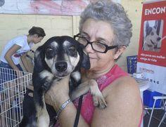 Filó com sua dona Monata. Foto: Divulgação/ong Amizade é um Luxo