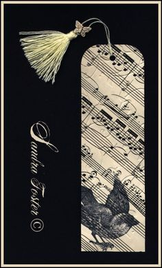 Bookmark Made With 100 Year Old Sheet Music. crafts Easy to Make Romantic Sheet Music Decorating Projects- DIY Vintage Decor Ideas Sheet Music Crafts, Old Sheet Music, Music Paper, Vintage Sheet Music, Vintage Sheets, Paper Art, Paper Crafts, Sheet Music Decor, Music Music