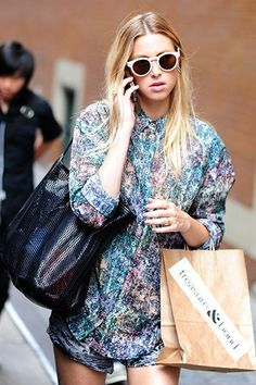 Mixed-colors Shirt #SS14 www.blueisinfashionthisyear.com