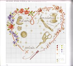 """Oiseaux, papillons et petites bêtes au point de croix"" Véronique Enginger: 14 тыс изображений найдено в Яндекс. Just Cross Stitch, Cross Stitch Heart, Cross Stitch Flowers, Cross Stitching, Cross Stitch Embroidery, Embroidery Patterns, Cross Stitch Designs, Cross Stitch Patterns, Vintage Cross Stitches"