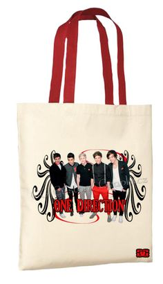 e33ac2f8d6 One Direction - red/black swirls Tote bag- $18.95 Navy Tote Bags, Canvas