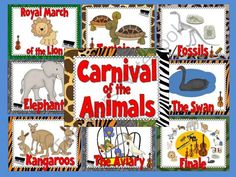 Carnival of the Animals Bulletin Board Set from The Bulletin Board Lady on TeachersNotebook.com -  (16 pages)  - This colorful bulletin board set features Camille Saint-Saens� Carnival of the Animals.   Included in this kit are posters of each piece in Carnival of the Animals.  The posters feature the subject of each piece as well as icons for the instruments that y