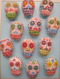 Dia de los Muertos~ Felt Skulls