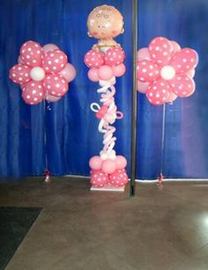 Baby Girl Shower - Balloon Column