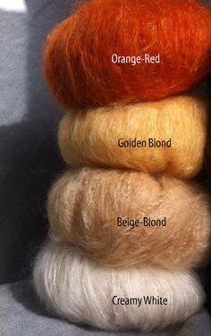 Chunky brushable Mohair für Waldorf Puppe Haare natürliche