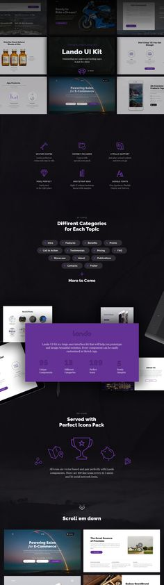 Outstanding one-pagers & landing pages