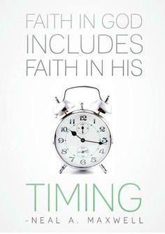 God is an on time God!