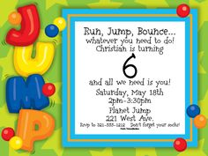 Lets Jump Invitations By Paper So Pretty