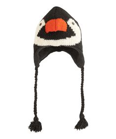 eb25e11241c This Black   White Penguin Wool Earflap Beanie by ICY HOT is perfect!   zulilyfinds