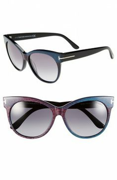 Óculos Carrera Women's Saskia 57mm Sunglasses Iridescent Blue #Óculos #Carrera