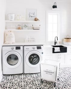"""4,114 Likes, 24 Comments - Design Home (@designhome) on Instagram: """"This laundry room from @monikahibbs makes us want to do laundry!"""""""
