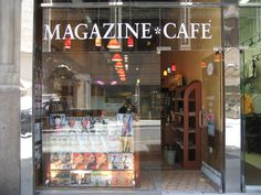 "Magazine Cafe - a boutique magazine retail store in Manhattan's Garment District; it's been called ""New York City's Best Magazine Store"". Actually been here!!"