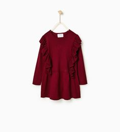 Size 4 for Ezzie - KNIT DRESS WITH RUFFLES-DRESSES AND JUMPSUITS-GIRL | 4-14 years-KIDS | ZARA United States