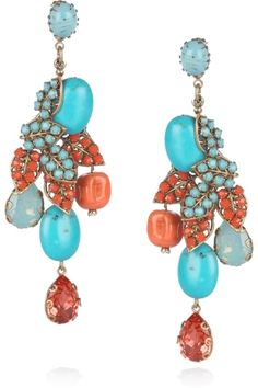 Turquoise & coral by caroline.c