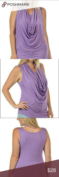 Sexy Plus Size Drape Front Top NEW ARRIVAL   Lovely purple top with drape front  Sexy attitude in cool, comfortable rayon  VERY Limited quantity  97% rayon  3% spandex   1X, 2X, 3X Bellino Clothing Tops