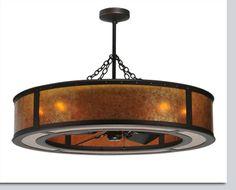 Smythe Craftsman Ceiling Fan Chandelier - Available at GrandLight.com