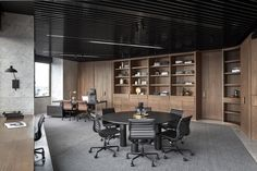 Studio Tate has revamped the 17th floor of an unusual hexagonal building to create lavish offices for PDG, a property development firm based in Melbourne. The studio was given the task of turning t..