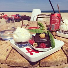 Chocolate fondant with raspberries on the beach. There is so much magnificence near the ocean part III