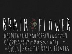 Font called Brain Flower, my personal favorite for this project.