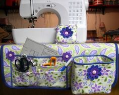 Sewing Mat Organizer Thread Catcher and Pin by SundayGirlDesigns: