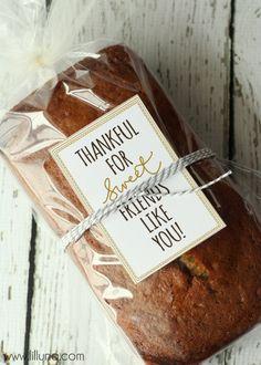 Thankful for Sweet Friends Like You Tag - Free download on { lilluna.com }