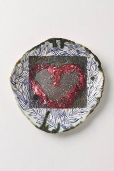 Ceramic Art Heart Plate