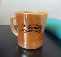 Vintage Fire King Rio Grand Railway Mug  D by MissAtomicShop