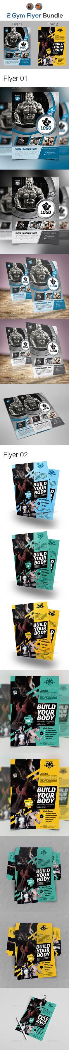 pool service flyers. Fitness Flyers Bundle Template Vector EPS, AI Illustrator Pool Service