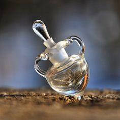 Lampwork glass bead perfume bottle vessel amphora by GreyaLampwork