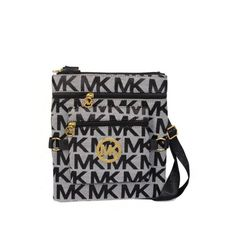 Michael Kors Outlet Fulton Logo Large Grey Crossbody Bags-The best gift. $64.99, Dresses, Summer Outfits