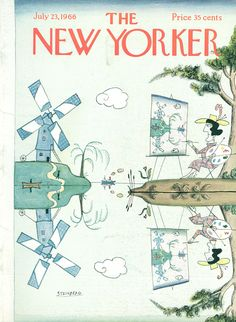 The New Yorker - Saturday, July 23, 1966 - Issue # 2162 - Vol. 42 - N° 22 - Cover by : Saul Steinberg