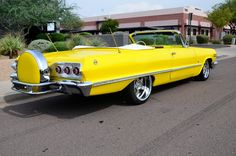 ">""CANARY YELLOW""<1963 Chevy Impala convertible... This Year Looks Great in mentioned color..."