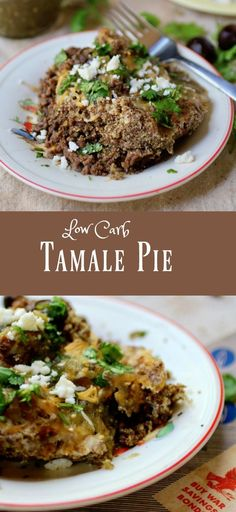 Low Carb Comfort Food! Easy tamale pie recipe has under 5 net carbs per serving. From Lowcarb-ology.com