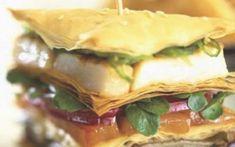 Ψητά λαχανικά και τυρί σε φύλλο κρούστας Greek Recipes, Sandwiches, Tacos, Mexican, Ethnic Recipes, Food, Essen, Greek Food Recipes, Meals