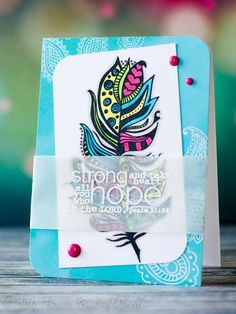 Hope Feather by housesbuiltofcards - Cards and Paper Crafts at Splitcoaststampers