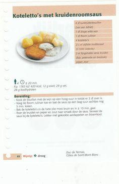 koteletto's met kruidenroomsaus