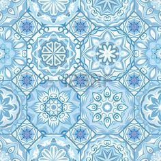 Baldosas de diseño floral magnífica. azulejos marroquíes octágono o mediterráneos, adornos tribales....