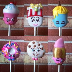 Shopkins Cake Pops Shopkins Bday, Shopkins Cake, Gorgeous Cakes, Amazing Cakes, Cake Pops, Carmel Candy, Marshmallow Treats, Oreo Pops, Cupcake Cookies
