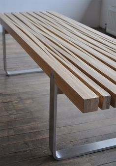 Cut And Stretched Coffee Table / Bench. (source: The Design Walker)