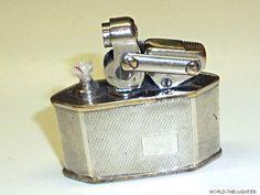 """KW (KARL WIEDEN) """"MODELL 680 1/2"""" SEMI-AUTOMATIC LIGHTER W. 800 SILVER CASE-1932 Sammeln & Seltenes:Tabak, Feuerzeuge & Pfeifen:Feuerzeuge:Alt (vor 1970)"""