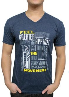 Greater Apparel Men's Feel the EDM Music Movement EDC Rave V-neck T-shirt Small Blue Greater Apparel http://www.amazon.com/dp/B00I2MNA3M/ref=cm_sw_r_pi_dp_.F6Stb0BHMJDDEHE