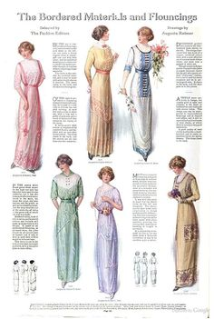 Ladies' Home Journal not sure what year this is, but the dresses look nice. Edwardian Clothing, Edwardian Dress, Antique Clothing, Edwardian Era, 1800s Fashion, Edwardian Fashion, Vintage Fashion, Historical Costume, Historical Clothing