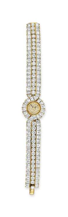 A gold and diamond wristwatch, by Graff #christiesjewels